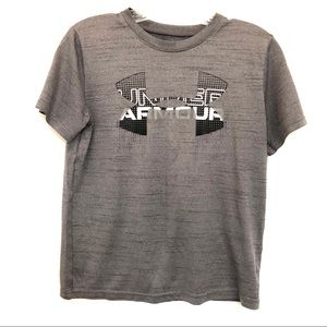 Under Armour Youth Large Gray Heatgear Shirt